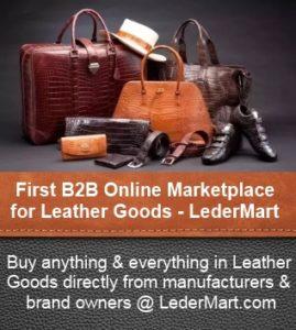 First B2B Online Marketplace for Leather Goods at LederMart